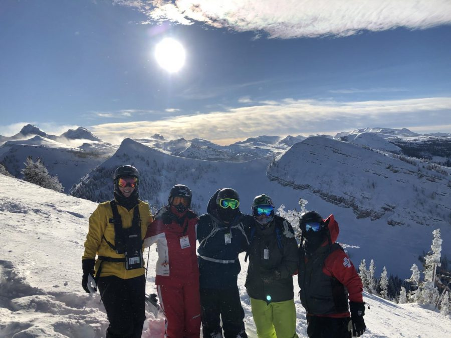 Skyline Skiers, Snowboarders Slide the Slopes